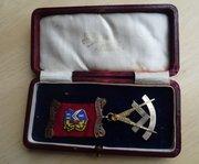 9CT Gold Scottish Masonic Jewel, Airlie No286