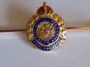 9ct Gold & Enamel,Royal Engineers Brooch