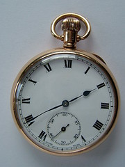 9k gold swiss pocket watch den