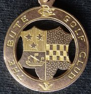 Antique 9CT Gold Bute Golf Club Harry Hope Medal