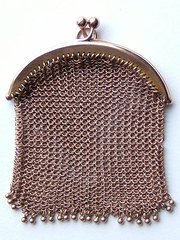 Antique, 9CT Gold Mesh Link Sovereign Purse