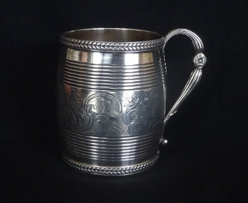 Antique George III English Silver Mug, London 1807