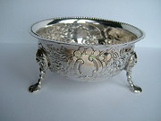 Antique Irish Silver Bowl, Samuel Le Bas, Dublin