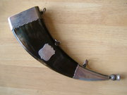 Antique Scottish Silver Dress Powder Horn