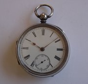 Antique Victorian English Silver Pocket Watch 1893