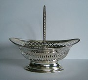 Antique Victorian English Silver Basket