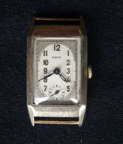 Art Deco 9ct Gold LACO Wristwatch c1935