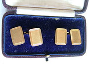 Cased Pair 18CT Gold Gentleman's Cufflinks