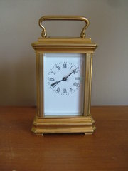 Decorative Miniature Brass Carriage Clock