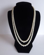 Double Strand, Graduated, Cultured Pearl Necklace