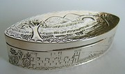 Edwardian Silver Picture Top Snuff Box