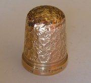 English 9CT Gold Thimble, J Swann, Birmingham