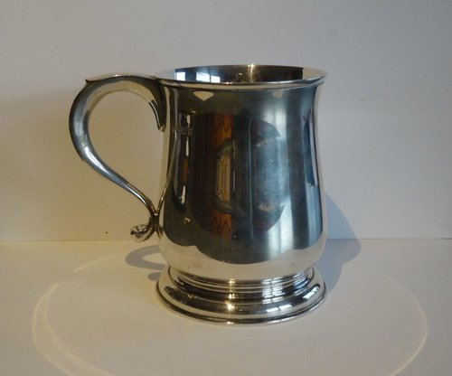 English Silver Pint Mug, Barnard & Sons, London