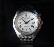 Gent's Seiko Kinetic Stainless Steel Wristwatch