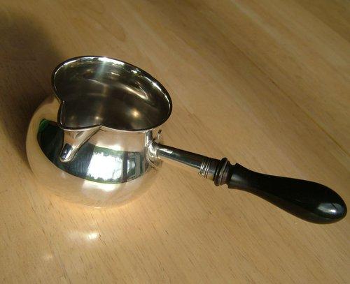 George III, English Silver Brandy Warmer Pan c1781