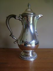 George III, English Silver Hot Water Pot c1774