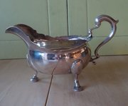 George II, English Silver Gravy / Sauce Boat c1752