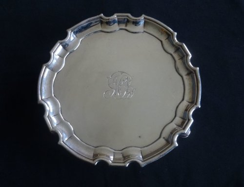 George II, Scottish Silver Tray Edinburgh c1743