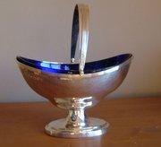 George V, English Hammered Silver Basket
