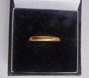 Good English 22CT Gold Wedding Band Ring, c1950