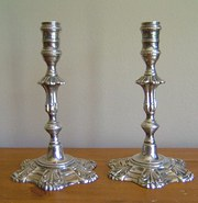 Good Pair of English Silver Tapersticks
