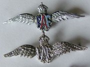 Good Quality Pair of RAF Wings Brooches