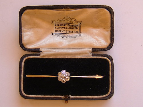 Lovely 7 Stone Diamond Brooch, Dawson Regent St.W