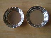 Pair George III, English Silver Strawberry Dishes