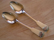 Pair of Scottish Provincial Tablespoons Aberdeen