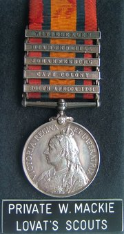 Queen's South Africa Medal QSA Lovat Scouts