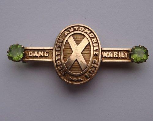 Rare 15CT Gold Scottish Automobile Club Badge