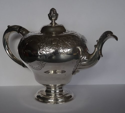 Rare George III, Scottish Silver Teapot, L&R c1765