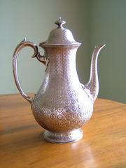 Rare Victorian English Silver Coffee Pot