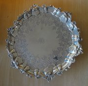 Scottish Silver Tray, Howden, Edinburgh c1800