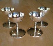 Set Four Traprain Law Scottish Silver Goblets