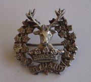 Silver Gordon Highlanders Badge A&J Smith Aberdeen