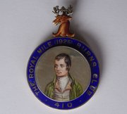 Silver & Enamel Robert Burns Club Badge