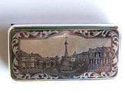 Superb Russian Silver Niello Cheroot Case c1862
