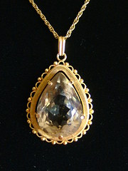 Superb large Citrine Set Victorian Pendant