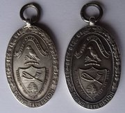 Two Forfar Robert Burns Club Silver Medals c1930