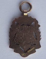 Victorian 9CT Gold Scottish Golf Medal James Robb