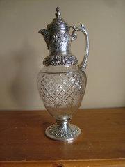 Victorian English Silver Claret Jug c1891