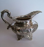 Victorian Irish Silver Jug, Dublin c1840