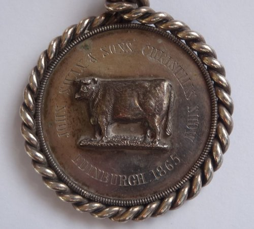 Victorian Scottish Silver Farming Medal c1865