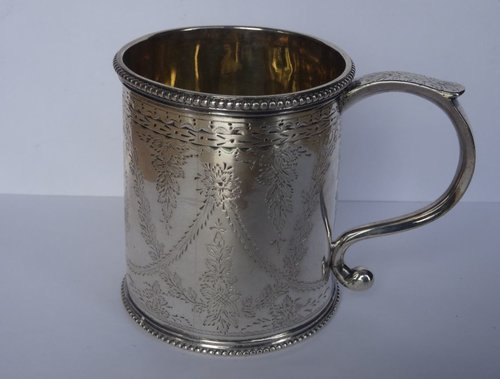 Victorian Scottish Silver Mug, Edinburgh c1870