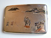 Vintage Japanese Silver & Gold Case