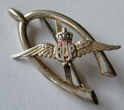 Vintage Sterling Silver RAF Wings Brooch, C.H
