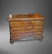 18th C Walnut & Inlaid  Chest of Drawers