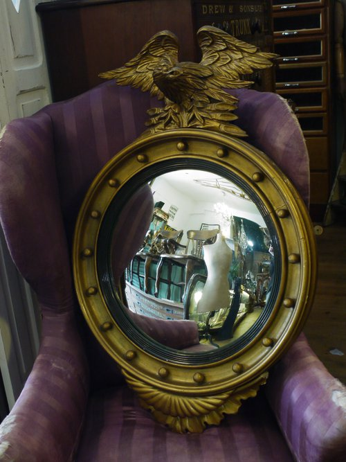 Vintage Convex Eagle Mirror