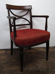 Regency Mahogany Carved Armchair